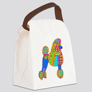 Pretty poodle Canvas Lunch Bag