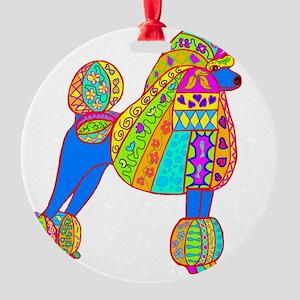 Pretty poodle Round Ornament