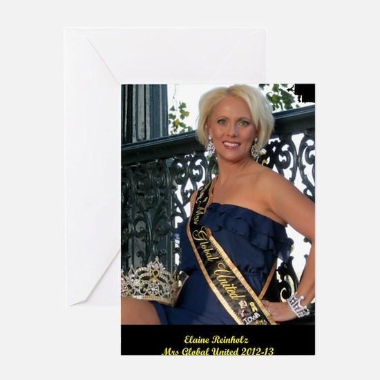 Mrs Global United 2012-13 Greeting Card