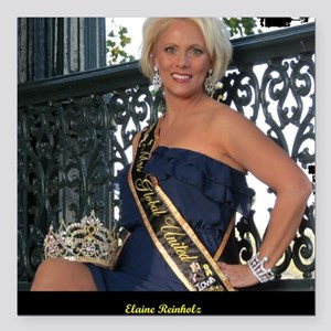 "Mrs Global United 2012-1 Square Car Magnet 3"" x 3"""