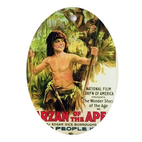tarzan Oval Ornament