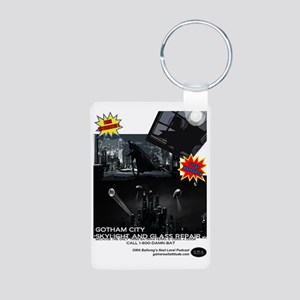Gotham City Glass Repair Aluminum Photo Keychain