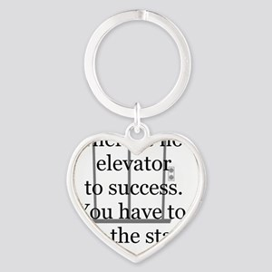 No Elevator to Success Heart Keychain