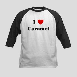 I love Caramel Kids Baseball Jersey