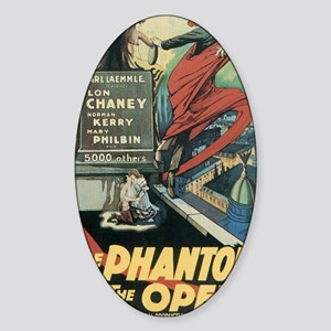 the phantom of the opera Sticker (Oval)