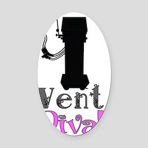 Vent Diva Oval Car Magnet