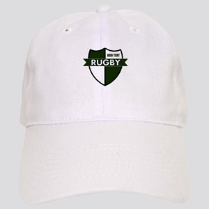 Rugby Shield White Green Cap