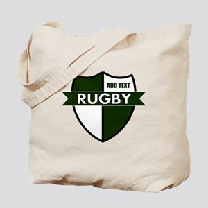 Rugby Shield White Green Tote Bag