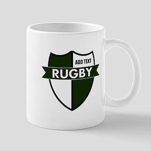 Rugby Shield White Green Mug