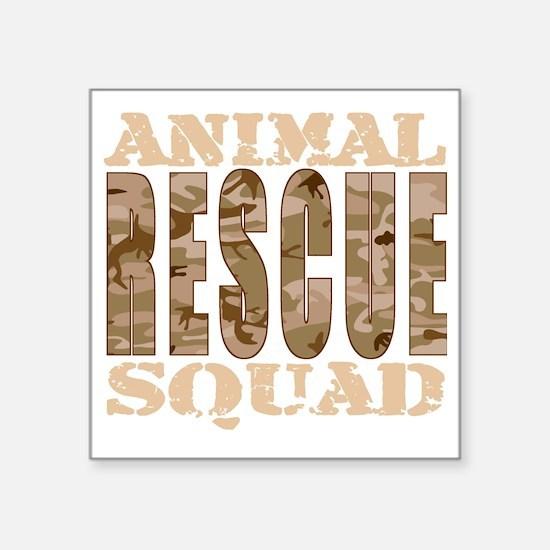 """RESCUE SQUAD Dark Square Sticker 3"""" x 3"""""""