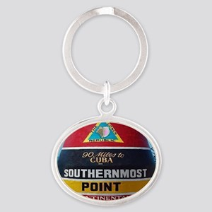 Key West Southern Most Point Monumen Oval Keychain