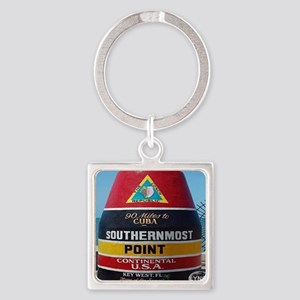 Key West Southern Most Point Monum Square Keychain
