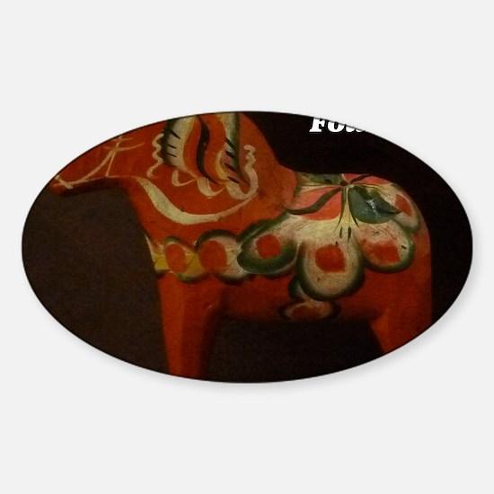 Dala Horse Foundation Sticker (Oval)
