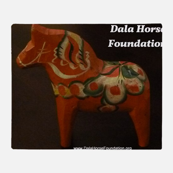 Dala Horse Foundation Throw Blanket