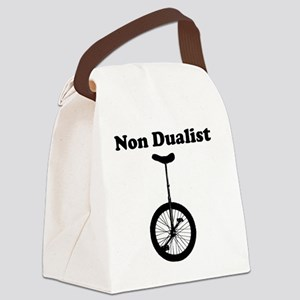 Non Dualist Unicycle Light Canvas Lunch Bag