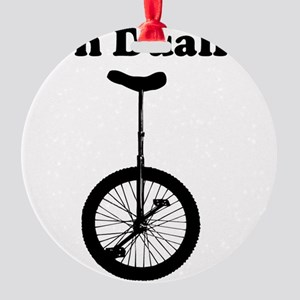 Non Dualist Unicycle Light Round Ornament