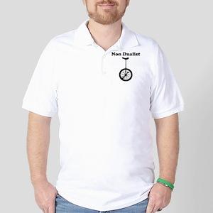 Non Dualist Unicycle Light Golf Shirt