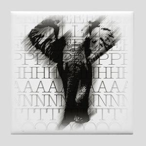 army_elephant-face Tile Coaster