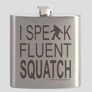 I SPEAK FLUENT SQUATCH T-SHIRTS AND GIFTS Flask