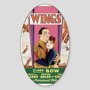 wings Sticker (Oval)