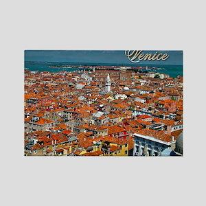 Venice Postcard Rectangle Magnet