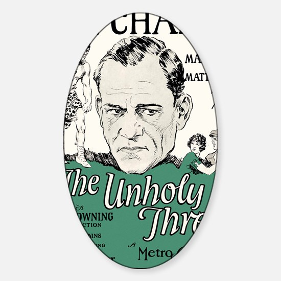 the unholy three Sticker (Oval)