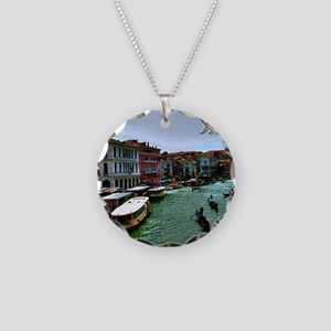 Venice - Grand Canal Necklace Circle Charm