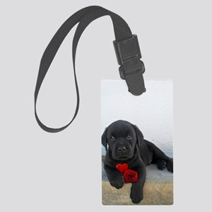 Valentines Labrador Puppy Large Luggage Tag
