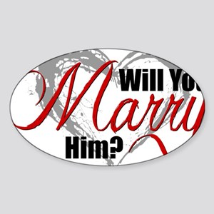 MarryHim Sticker (Oval)