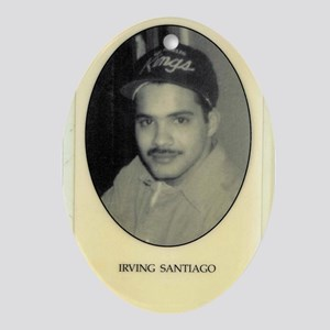 Irving Santiago Oval Ornament