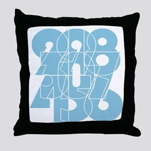 pk_cnumber Throw Pillow