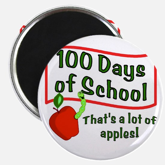 100th Day Apple Magnet