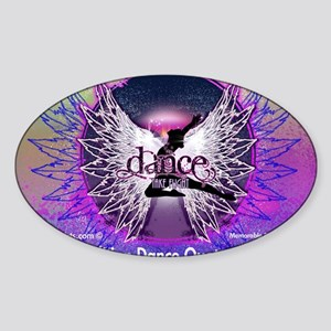 Dance Quotes Calendar Sticker (Oval)