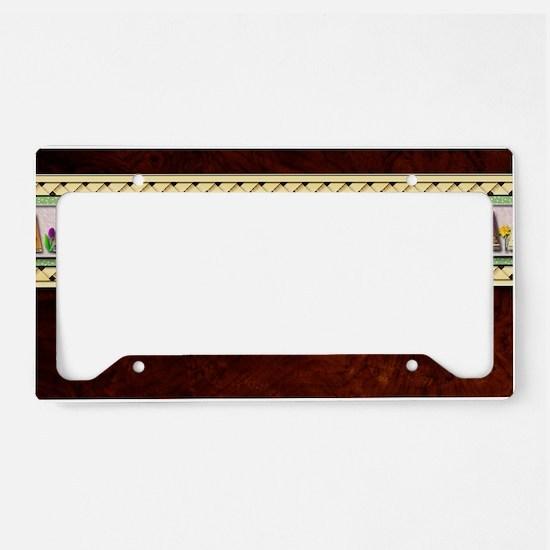 Spring Psaltery Key Hanger License Plate Holder