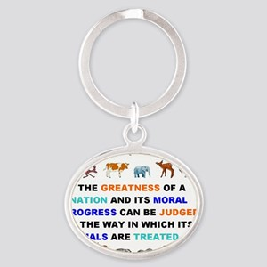 Greatness of nations judged by how a Oval Keychain