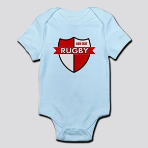 Rugby Shield White Red Infant Bodysuit