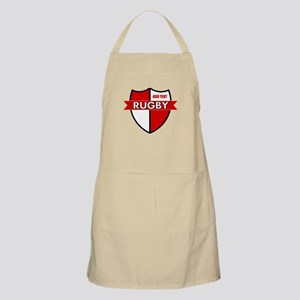 Rugby Shield White Red Apron