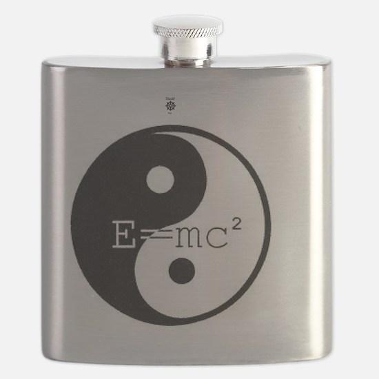 Yin & Yang  E=mc2 Flask