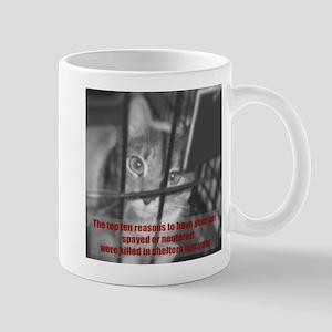 Top Ten Reasons Caged Cat Mug