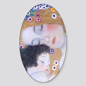 Galaxy Note 2 Cover Klimt Mother  C Sticker (Oval)