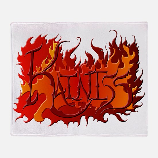 Katniss Everdeen the Name on Fire! Throw Blanket