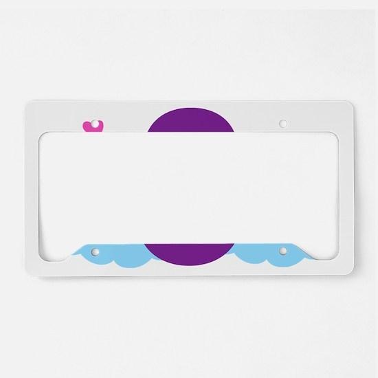 Rainbow 8th Birthday License Plate Holder