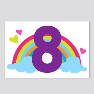 Rainbow 8th Birthday Postcards (Package of 8)