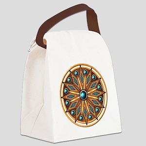 Native American Rosette 15 Canvas Lunch Bag