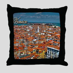 Venice Postcard Throw Pillow