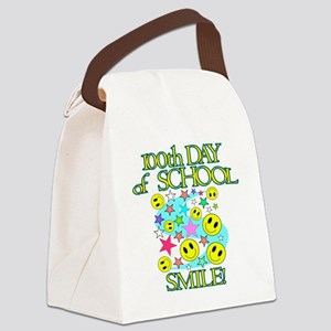 100th Day Smile Canvas Lunch Bag