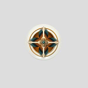 Native American Mandala 02 Mini Button