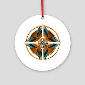 Native American Mandala 02 Round Ornament