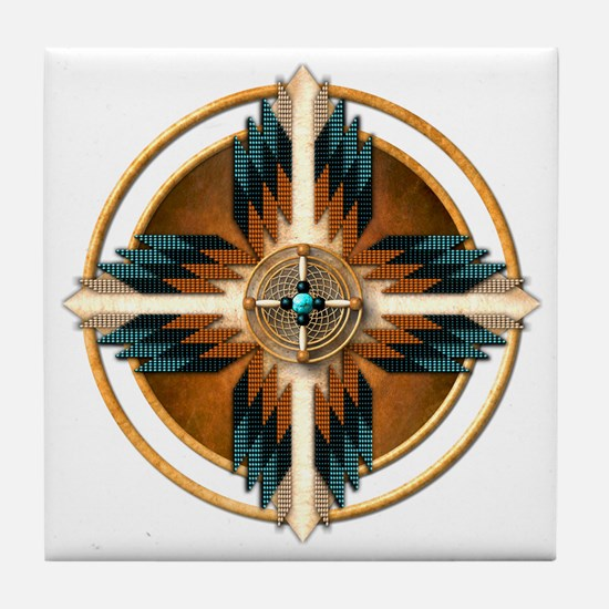 Native American Mandala 02 Tile Coaster