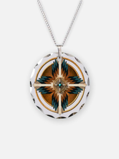 Native American Mandala 02 Necklace